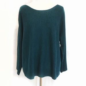 Eileen Fisher Teal Slit Sleeve Sweater - NWT
